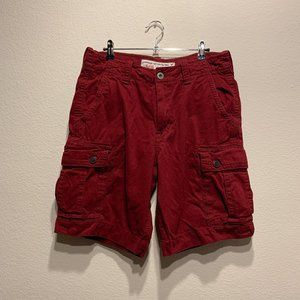 American Eagle Dark Red Classic Cargo Shorts